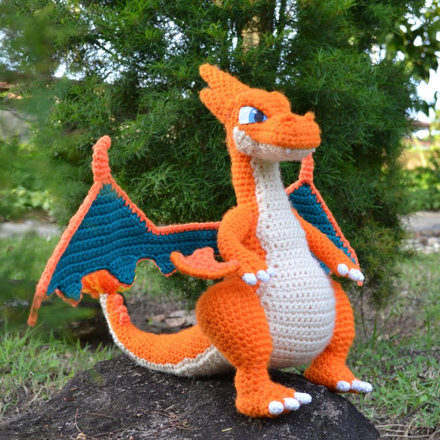Free free crochet dragon amigurumi pattern Patterns ⋆ Knitting Bee ...