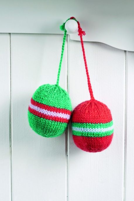 Easy Knitting Projects For Christmas : Free knitted christmas bauble patterns