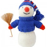 Sparkling Snowman - Free Christmas Knitting Pattern