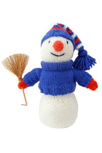 Sparkling Snowman - Free Christmas Knitting Pattern