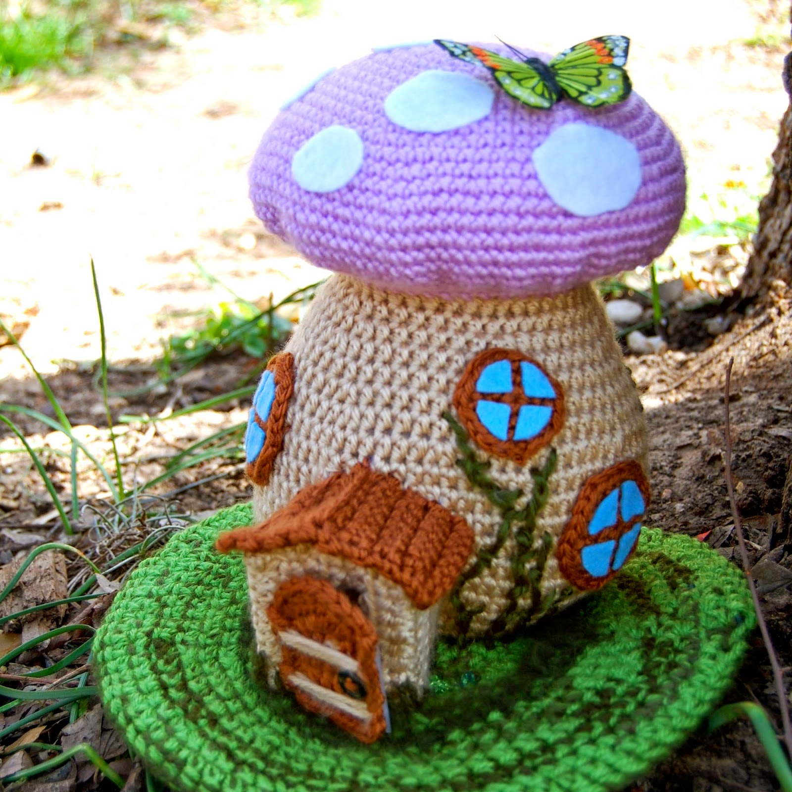 spring fairy house free crochet pattern knitting bee