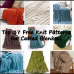Top 37 Free Cabled Blanket and Afghan Knitting Patterns