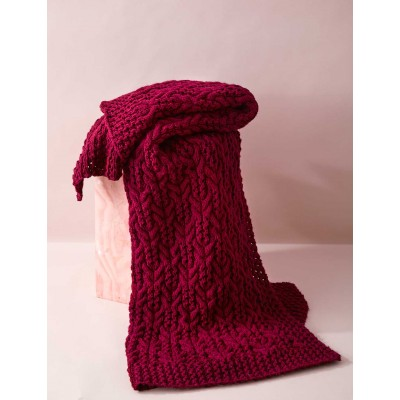 cable-and-lace-blanket free knitting pattern