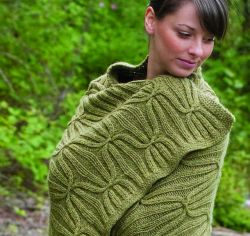cable and quilt free blanket knitting pattern