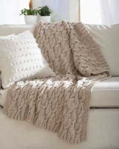 cable-twist-blanket free knitting pattern