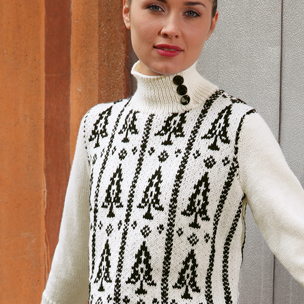 Vara Free Jumper Sweater Christmas or Fir Tree Fairisle Knitting Pattern