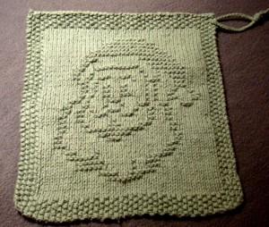 free christams knitting pattern santa dishcloth