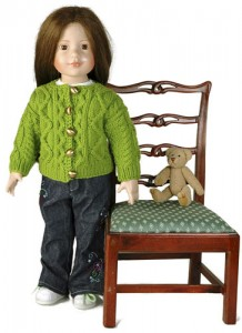 free knitting pattern for aran doll cardigan