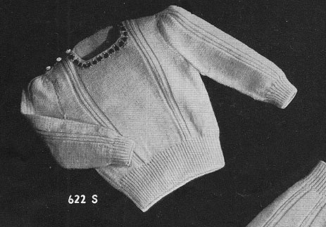 4390e10ac Free Vintage Baby Sweater Pattern ⋆ Knitting Bee