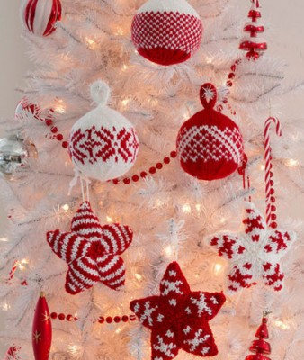 decorative House miniature decorative miniature Christmas ornament Christmas knitting pattern Knitting miniature Christmas ornament
