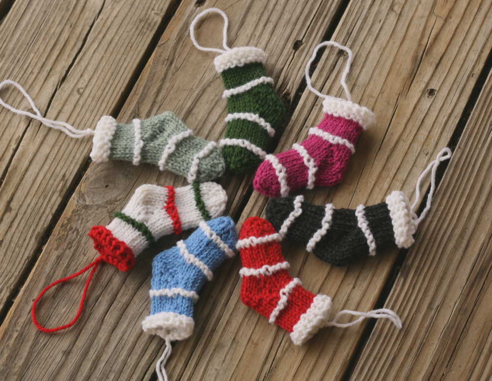 Mini Stockings Free Knitting Ornament Pattern Knitting Bee