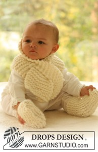 Baby Scarf and Socks Free Knitting Pattern