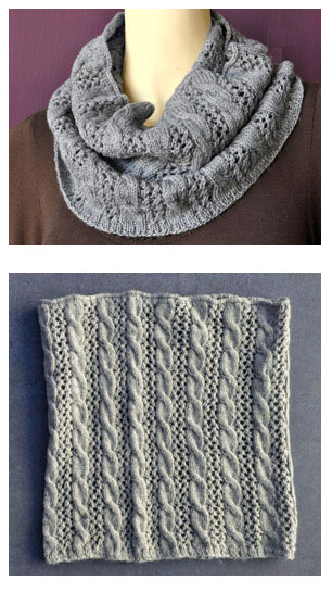 Cables N Lace Cowl Free Knitting Pattern Knitting Bee