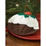 Christmas Pudding Dishcloth