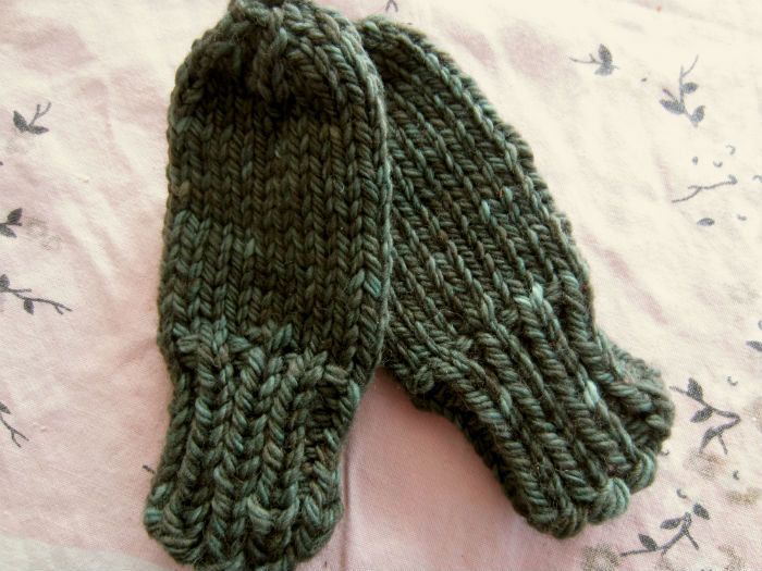 Chunky Baby Mittens With No Thumb Free Knitting Pattern Knitting Bee