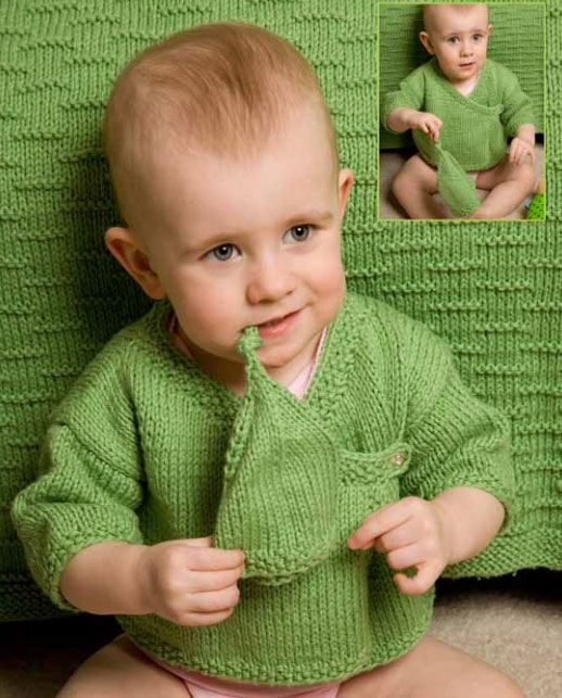 Cloud-Cotton-Baby-Wrap-Sweater-and-Hat-free-knitting-pattern