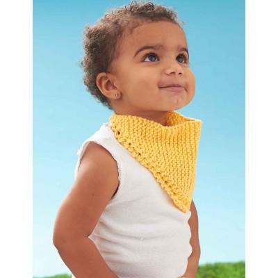 Dribble Bib - Free Baby Knitting Pattern