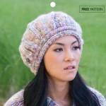 Estelle Comet Chunky Yarn Beret - Free Knitting Pattern