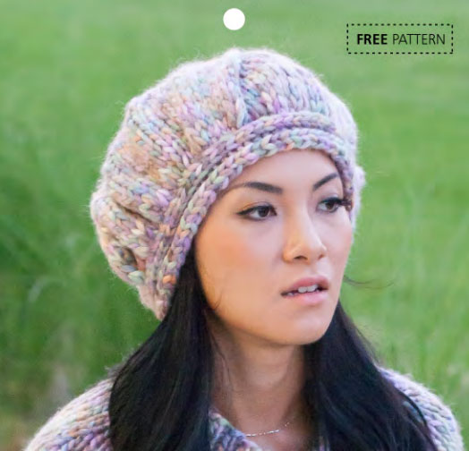 Estelle Comet Chunky Yarn Beret Free Knitting Pattern Knitting Bee