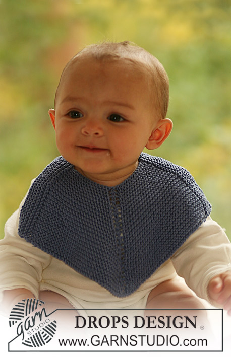 Free Baby Bib Knitting Pattern by DROPS