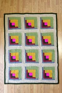 Grandmother's Log Cabin - Free Knitting Pattern 1