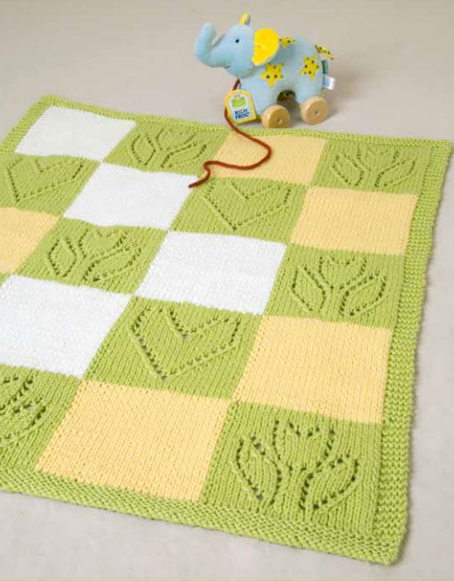 Hearts and Flowers Baby Blanket - Free Knitting Pattern ⋆ Knitting Bee