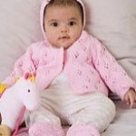 Lacy Baby Set for Little Girls - Free Knitting Pattern