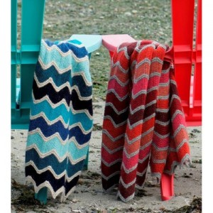 Missoni Inspired Lap Blanket Free Knitting Pattern 1