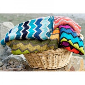 Missoni Inspired Lap Blanket Free Knitting Pattern 2