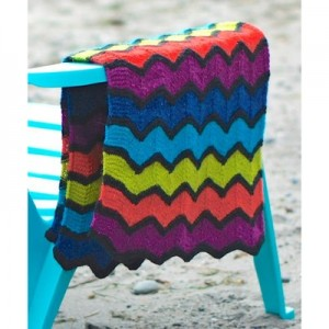 Missoni Inspired Lap Blanket Free Knitting Pattern