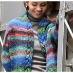 Noro Obi Cabled Jacket - Free Knitting Pattern