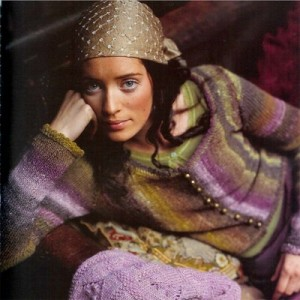 Noro Scoop Neck Cardigan Free Knitting Pattern
