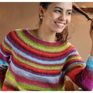 Noro yarn Kirara Sweater free knitting pattern