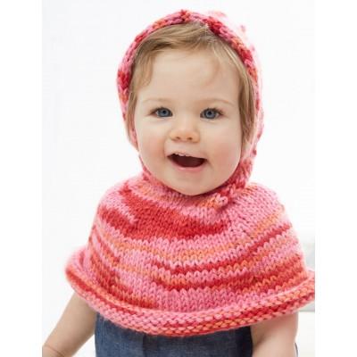 Poncho A Go-Go - Free Baby Knitting Pattern