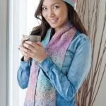 Seafoam Scarf & Slouchy Lace Hat - Free Knitting Pattern