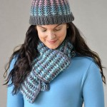 Winter Shades Hat and Scarf Free Knitting Pattern