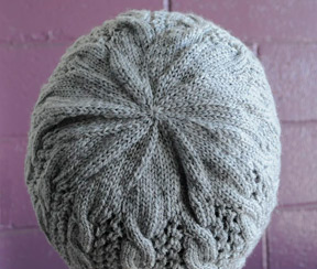 cable and lace hat knitting pattern 1