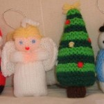 Free Christmas Knitting Patterns - Santa, Angel, Snowman and Tree