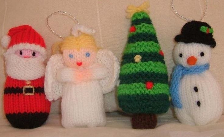 Free Christmas Knitting Patterns Santa Angel Snowman And Tree