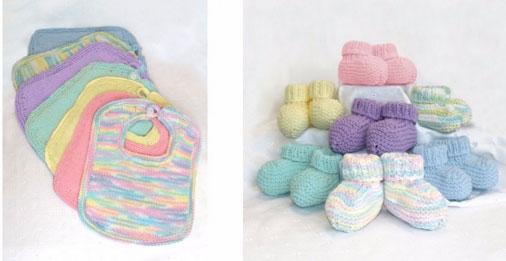 Bibs & Booties Free Knitting Pattern