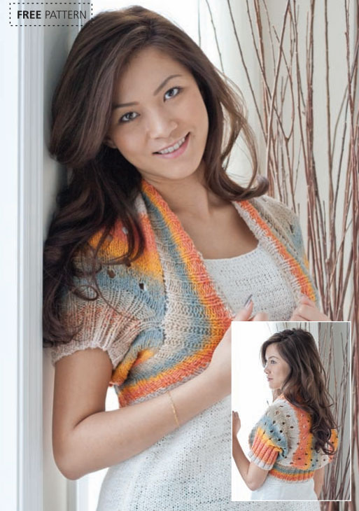 Free Variegated Yarn Shrug Knitting Patterns Patterns Knitting