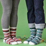 Holly Jolly Socks or Stockings - Free Knitting Pattern