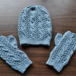 Cables 'n Lace Hat and Mitts