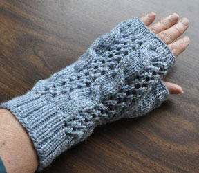 lace and cable mitt pattern