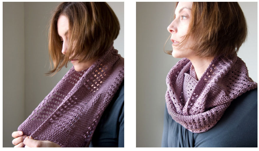 Lace Cowl Knitting Pattern Knitting Bee