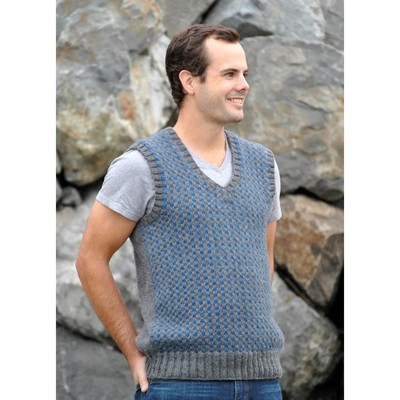 Skacel Classic Checked Vest - Free knitting Pattern