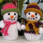 Cute Xmas Snowman Free knitting pattern