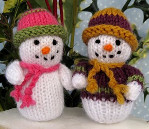 snowman pattern to knit for free