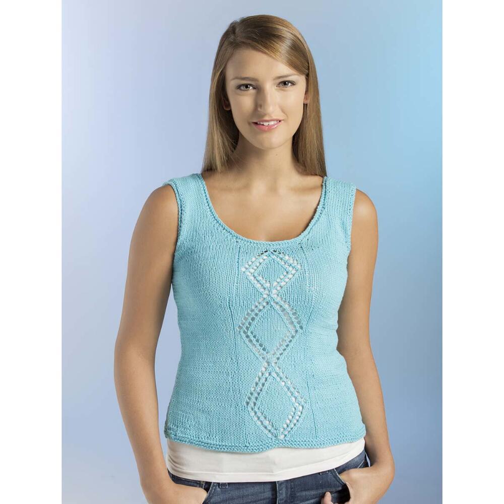 Blue Skies Tank Free Knitting Pattern