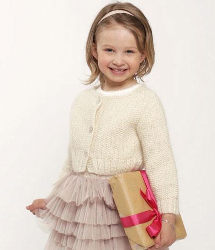 Dear Daisy - Girls Cardigan Knitting Pattern Free